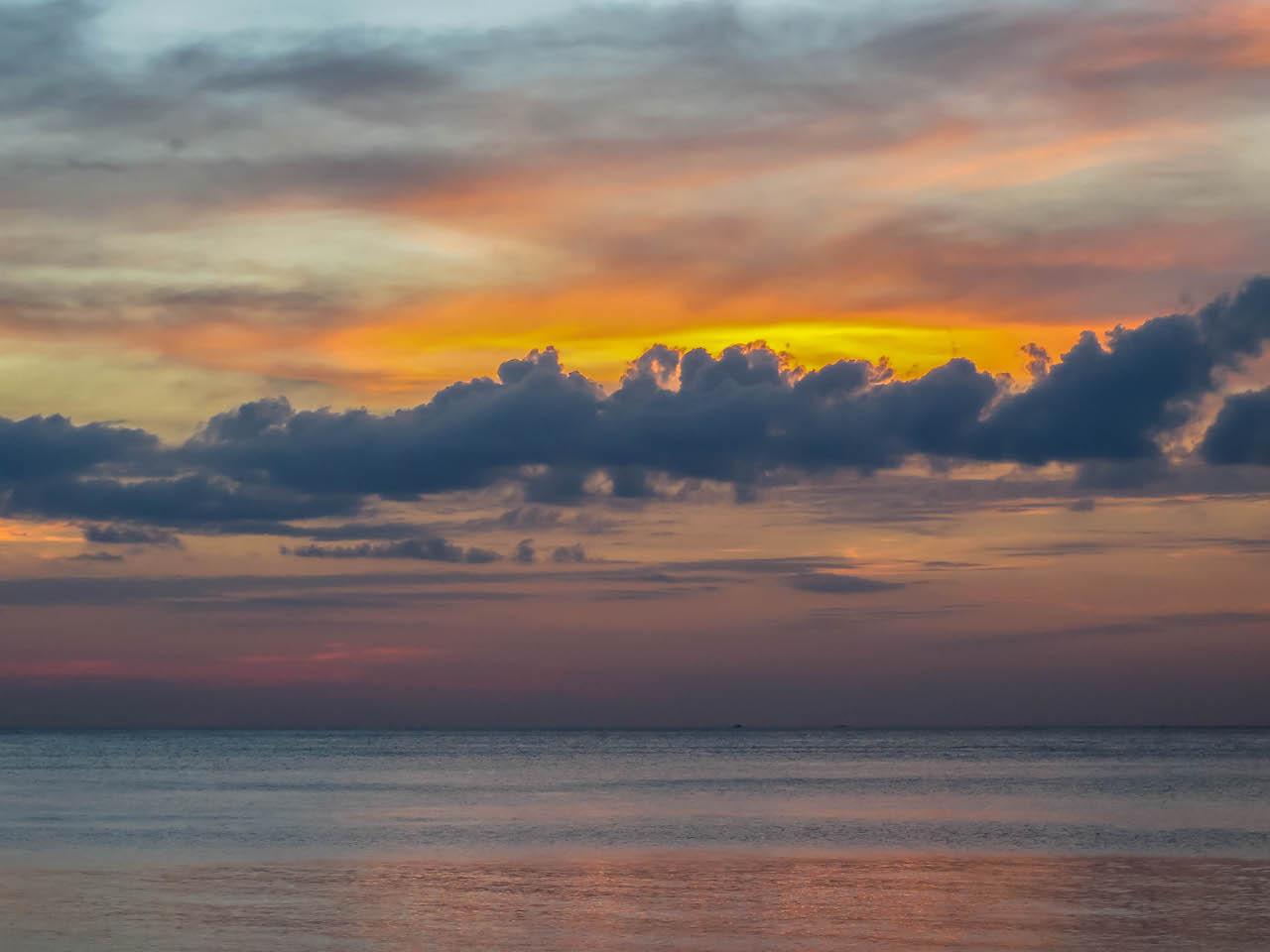 Koh Lantas Sonnenuntergänge sind legendär.