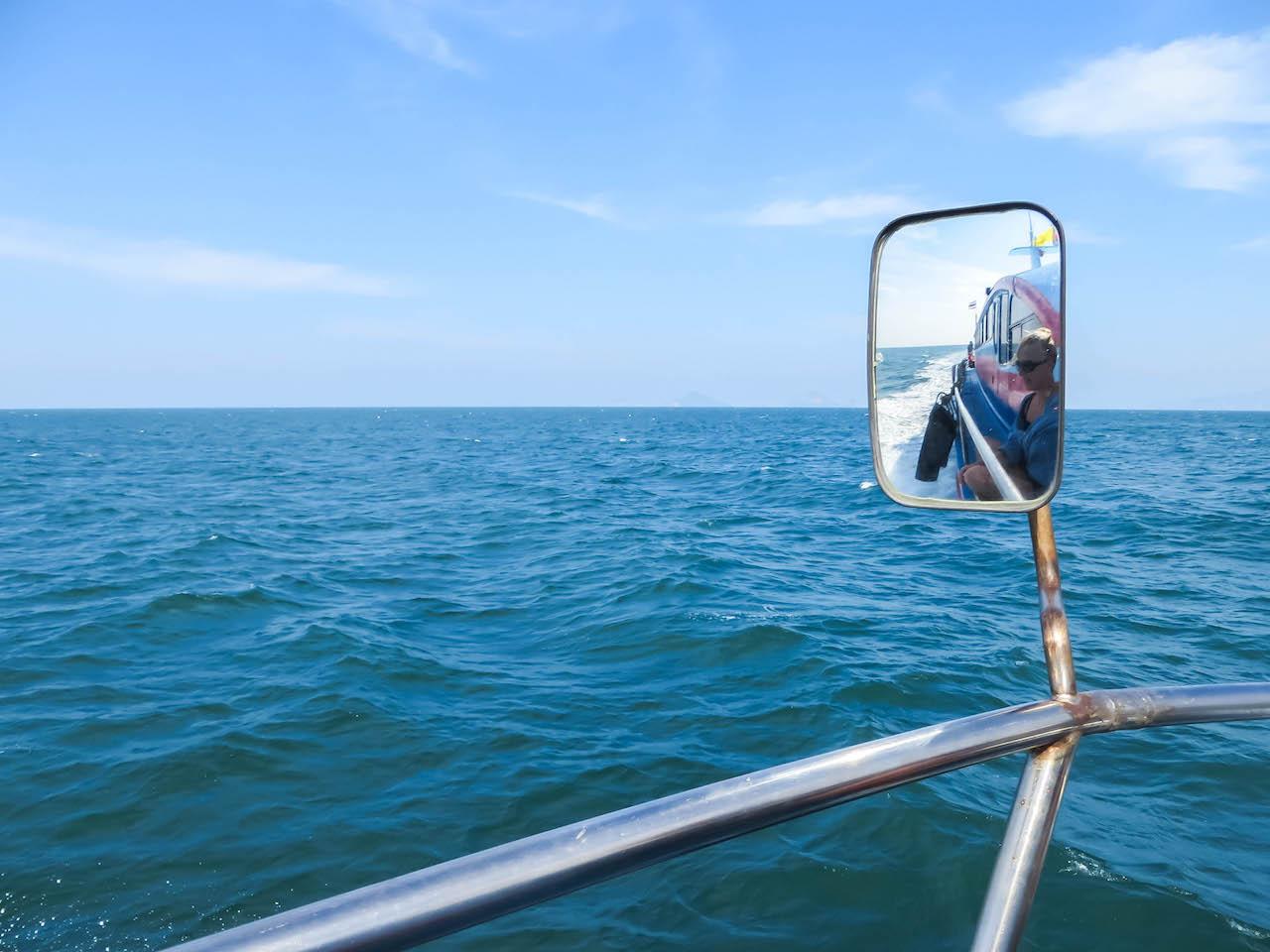 Per Boot unterwegs auf der Andamanensee.