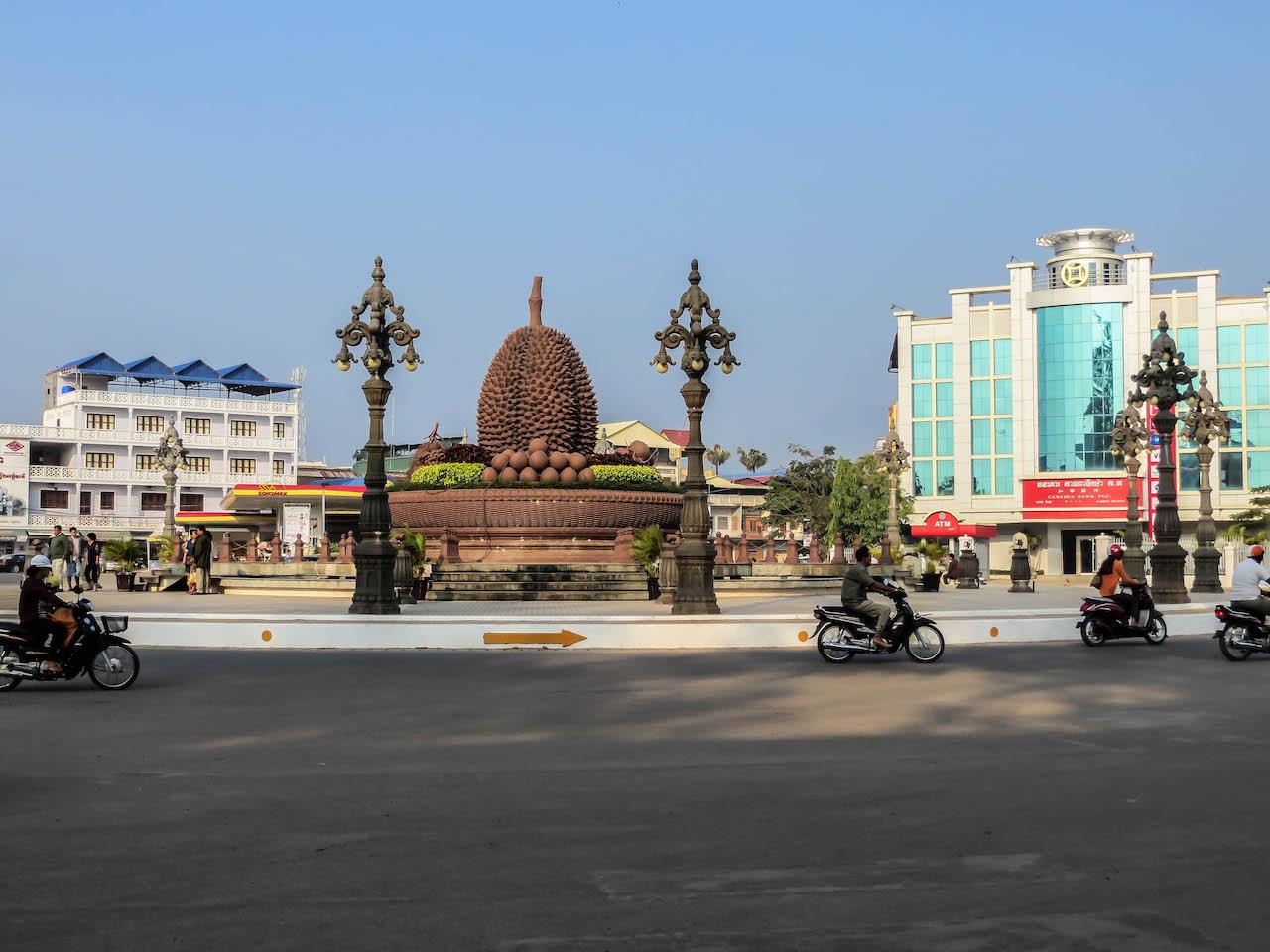 Die Durian Stadt Kampot.