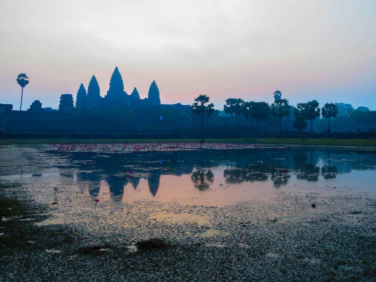 Farbenspiel bei Angkor Wat...