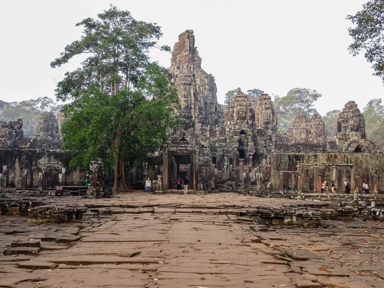 In der Tempelstadt Angkor Wat.