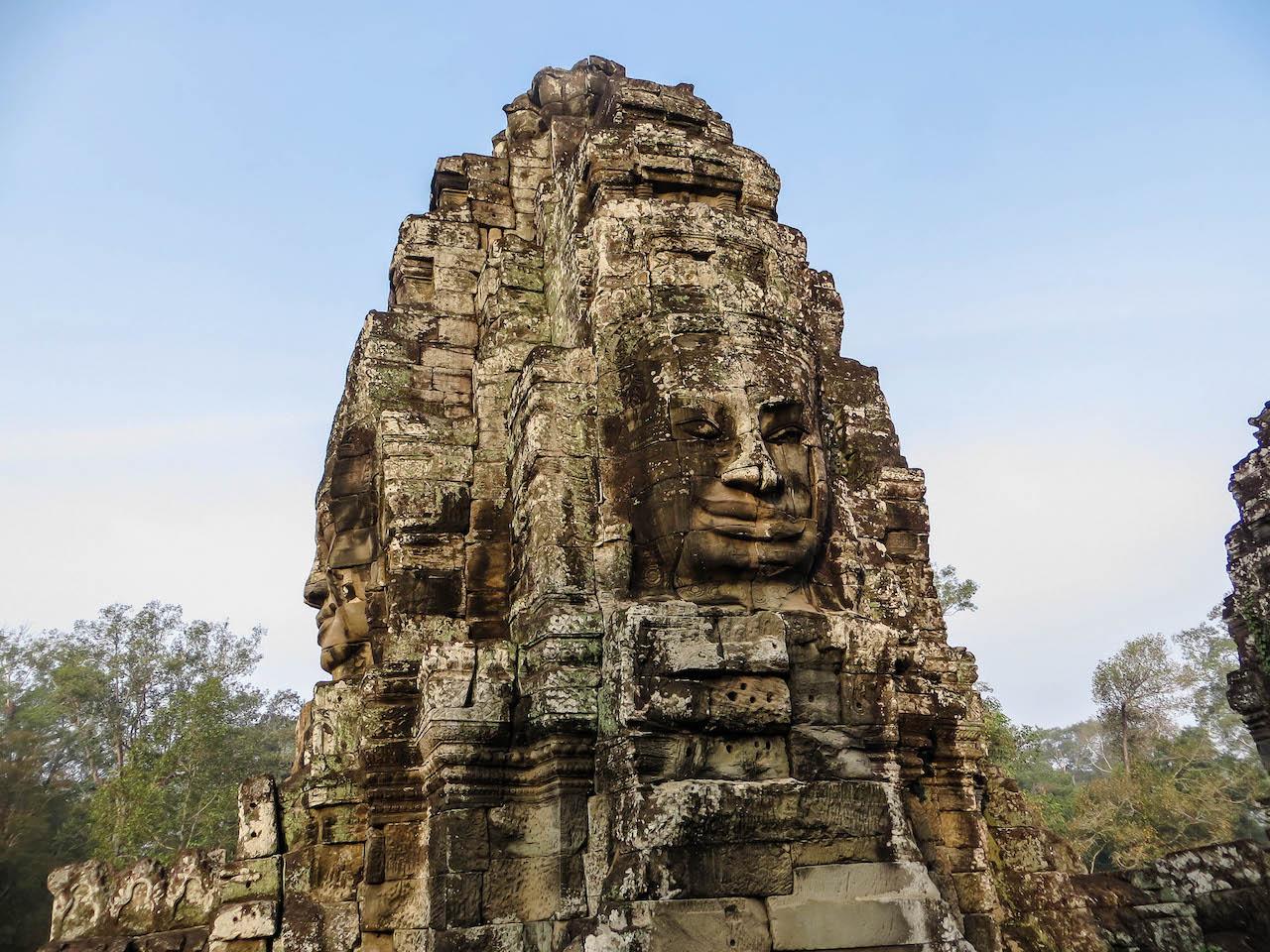 Der Tempel Bayon in Kambodscha.