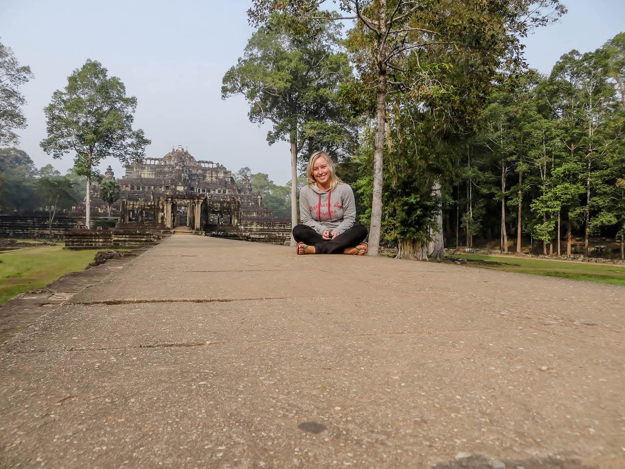 Unterwegs in den Stätten von Angkor Wat.