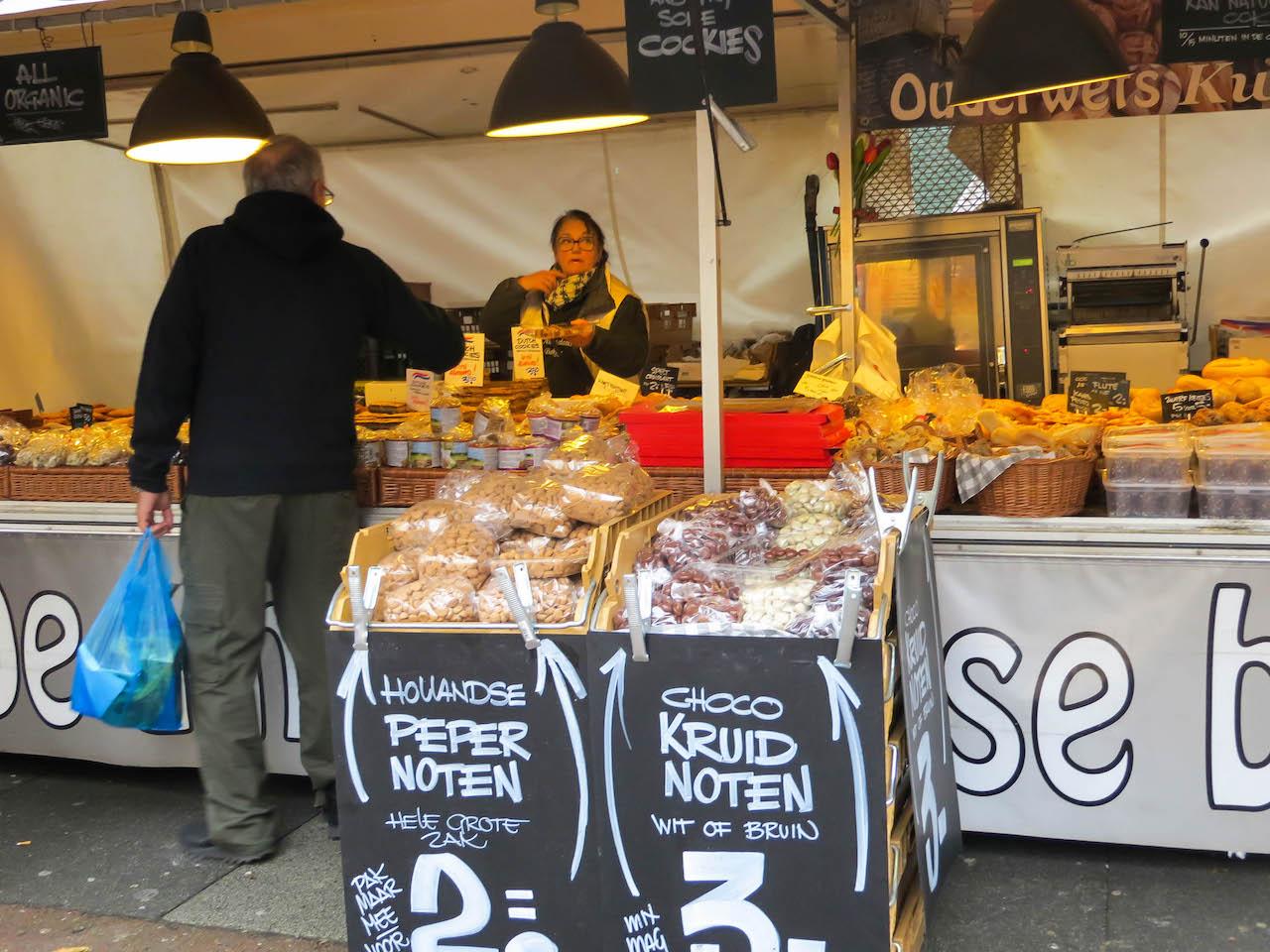 Besuch auf dem Albert Cuyp Markt.