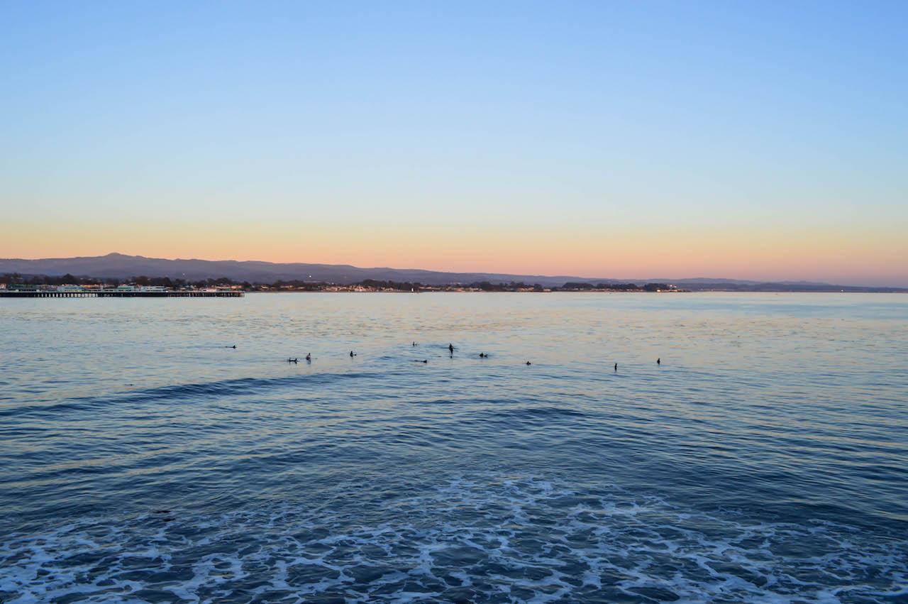 Das Warten auf Wellen.