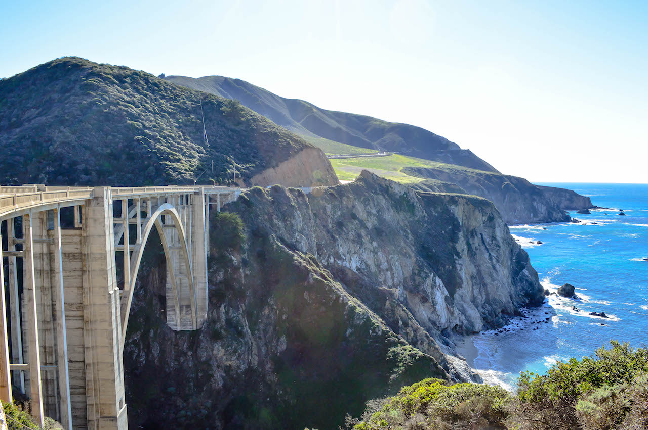 Über die Bixby Bridge in Kalifornien.