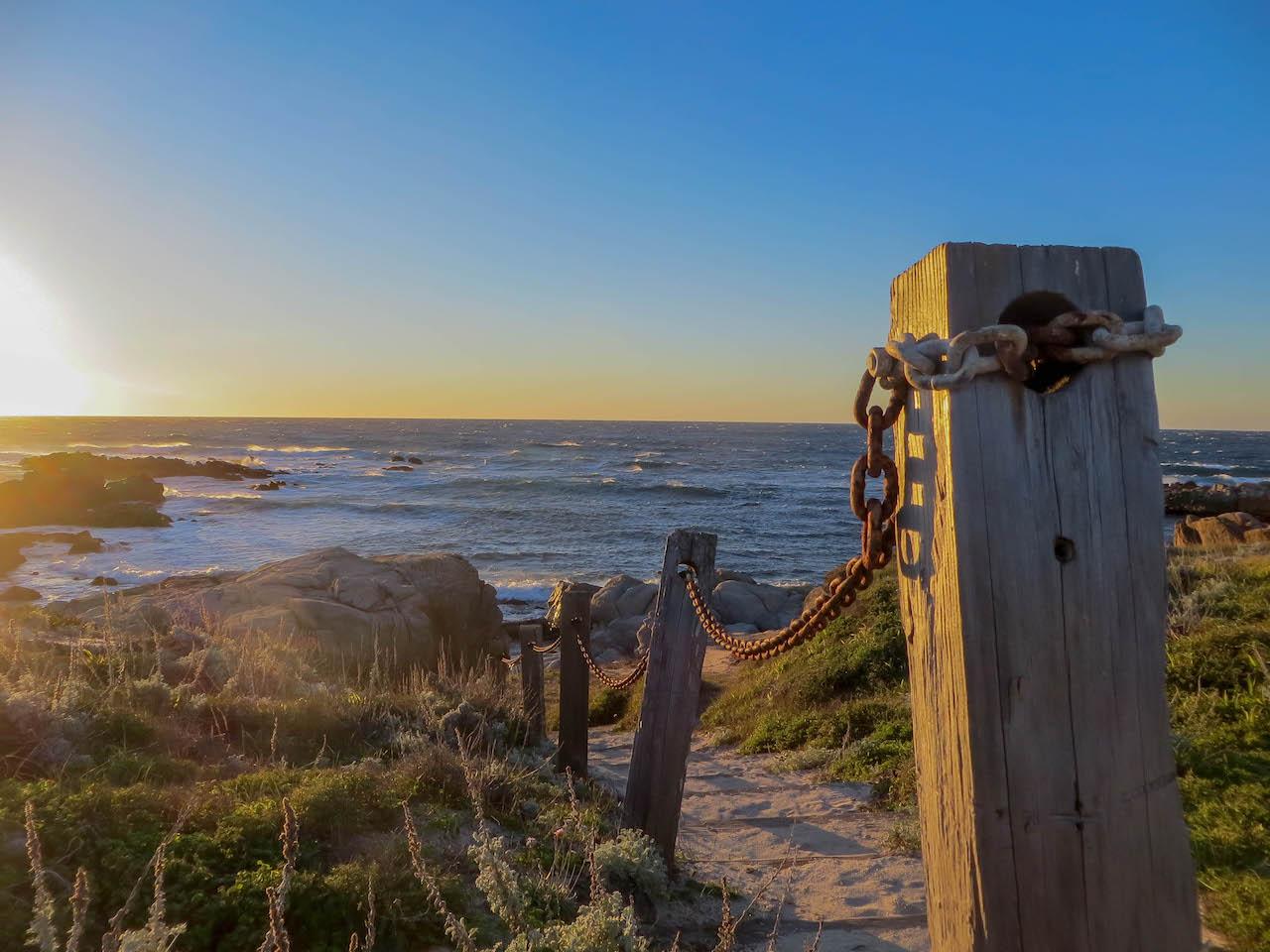Sonnenuntergang in Monterey in den USA.