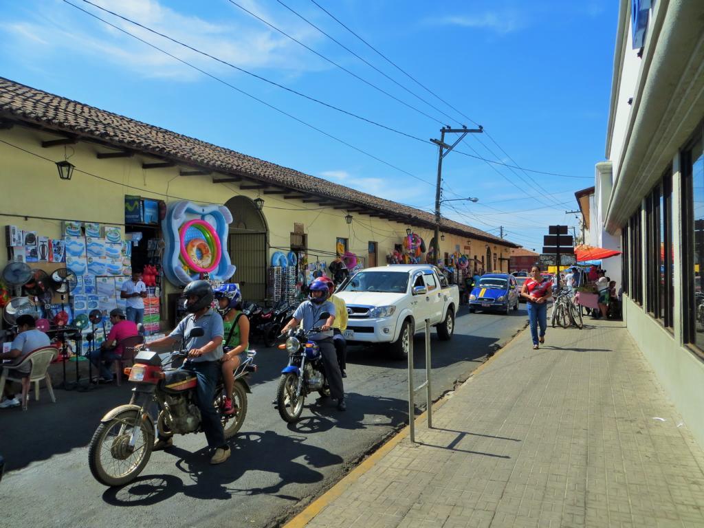 Unterwegs in León in Nicaragua.