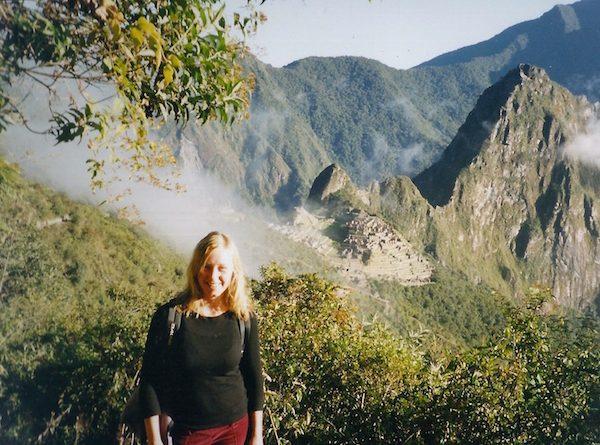 Auf dem Macchu Pichu in Peru.