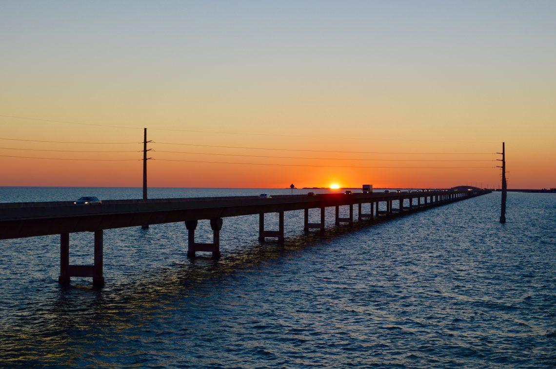 Sonnenuntergang auf den Keys.