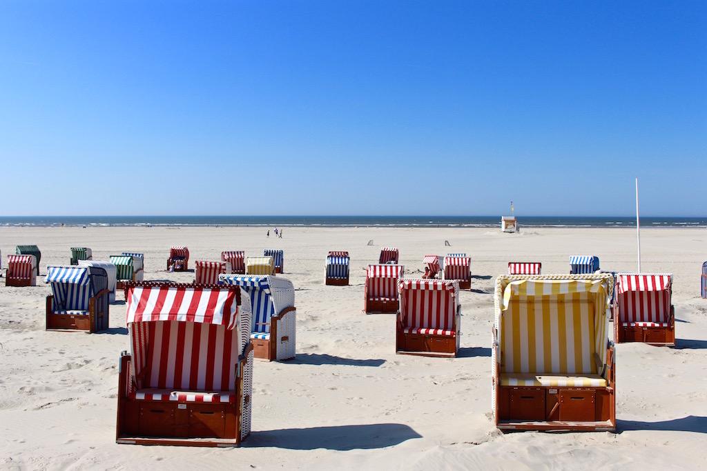 Strandkorbidylle auf Juist.