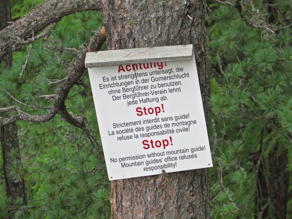 Aber Achtung: Nicht ohne Bergführer unterwegs sein!