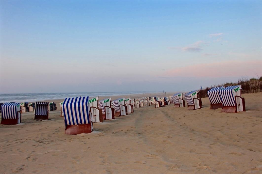 Wundervolle Stimmung am Strand von Norderney.