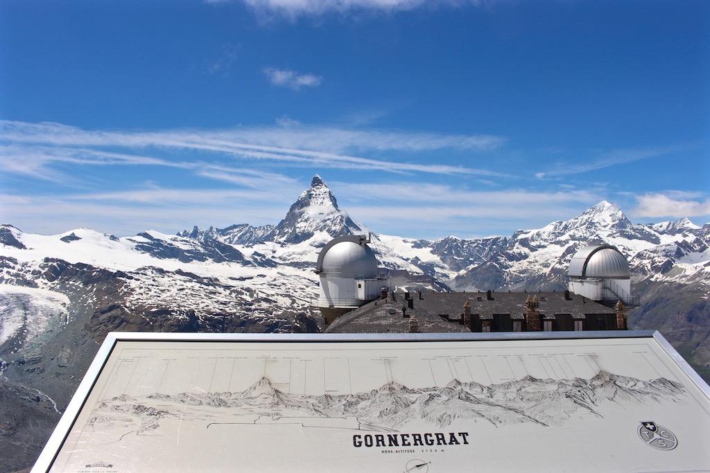 Blick vom Gornergrat aufs Matterhorn.
