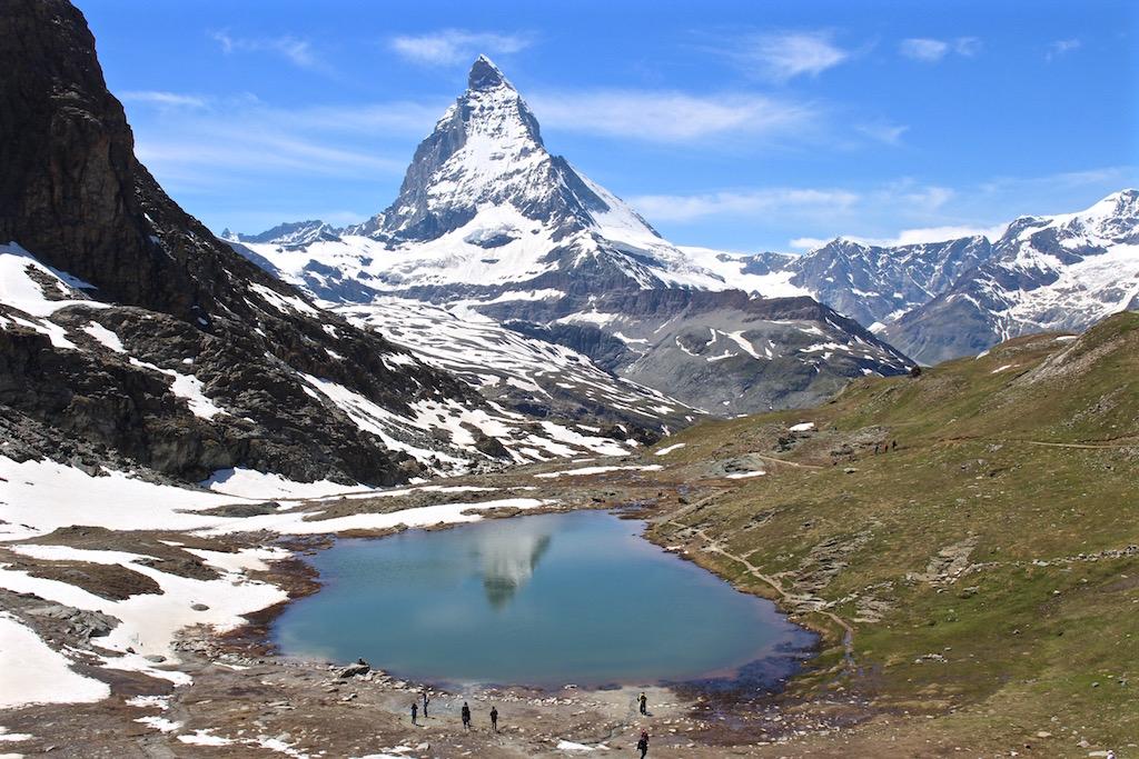 Der Riffelsee in Zermatt.