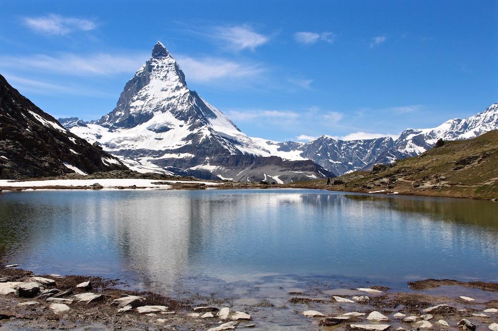 Eines der bekanntesten Fotomotive der Schweiz: Das Matterhorn.