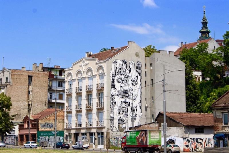 Auch viele Streetart gibt es in Belgrad!