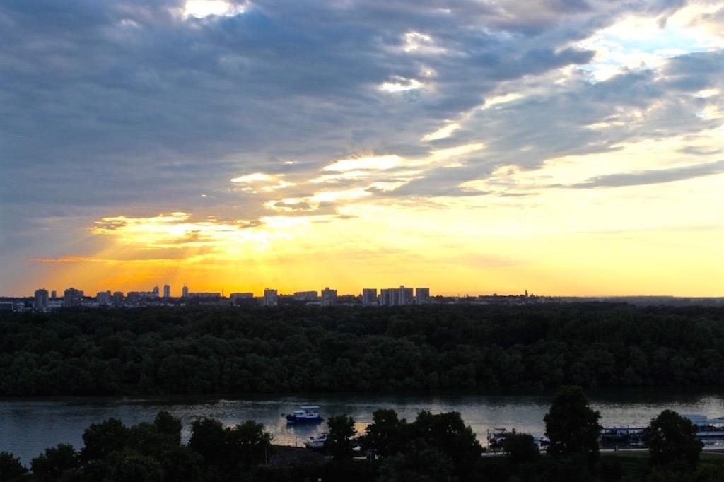 Der Topspot für den Sonnenuntergang in Belgrad: Die Festung Kalemegdan.