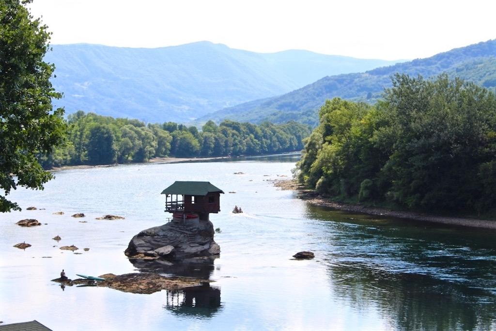 Das Flusshaus am Drina.