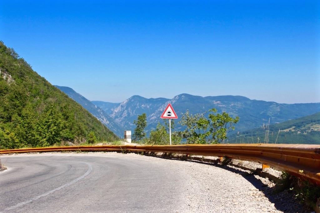 Unterwegs auf Serbiens Bergstrassen.