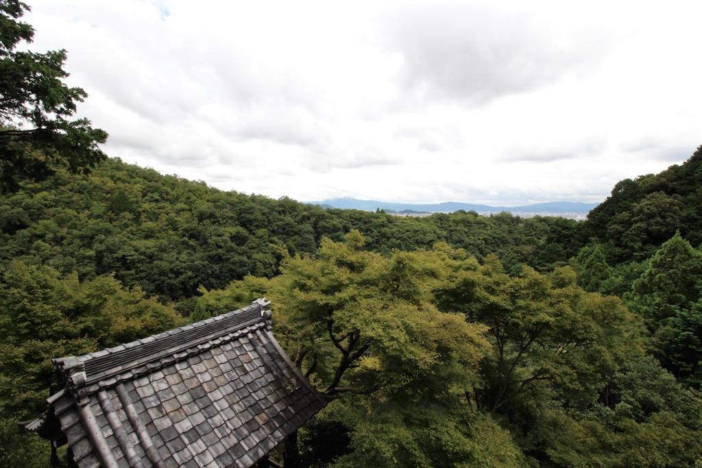 Vom Daihikaku Senkoji Tempel gibt es eine wunderbare Sicht auf Kyoto...
