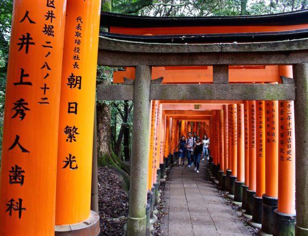 Der Fushimi Inari-Taisha Schrein in Kyoto.