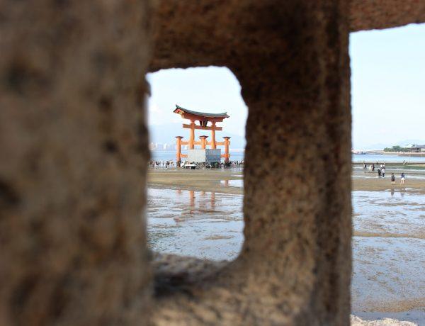 Unterwegs auf der Tempelinsel Miyajima.