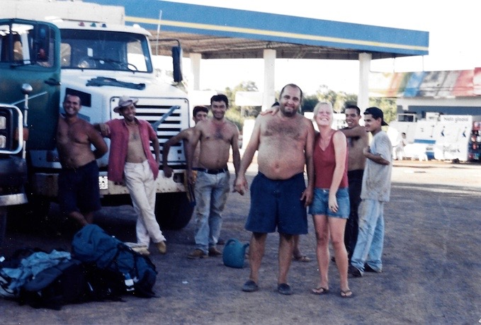 Mitfahrgelegenheit mitten im Nirgendwo in Paraguay.