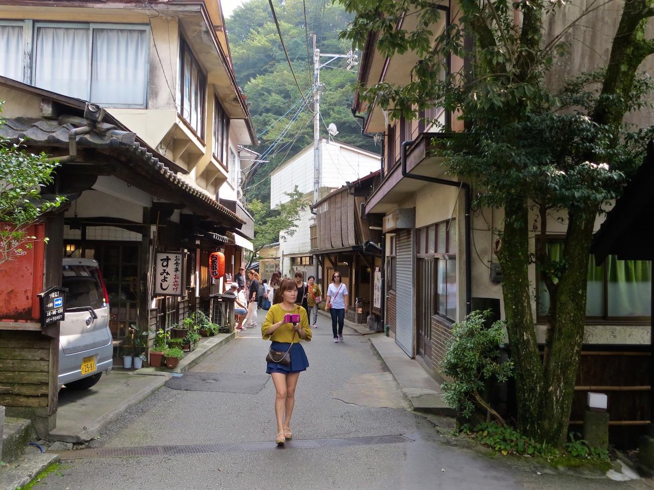 Das kleine Onsendorf Kurokawa.