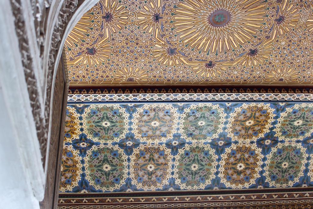 Es gibt überall etwas schönes zu entdecken im Bahia Palast in Marrakesch.