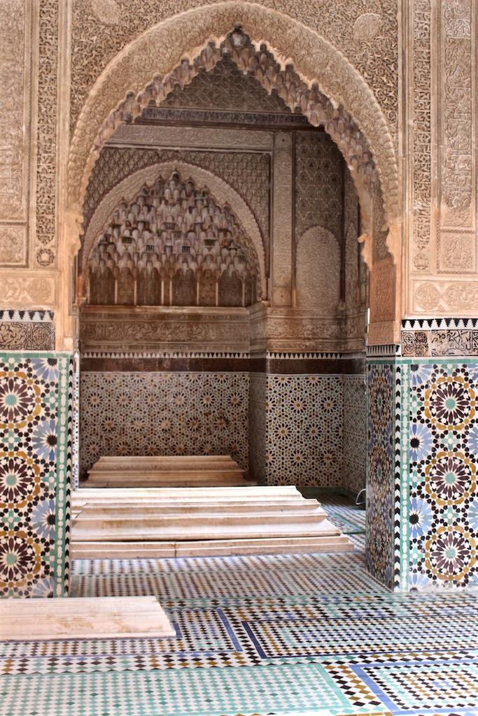 Die kunstvollen Gräber der Saadier in Marrakesch.