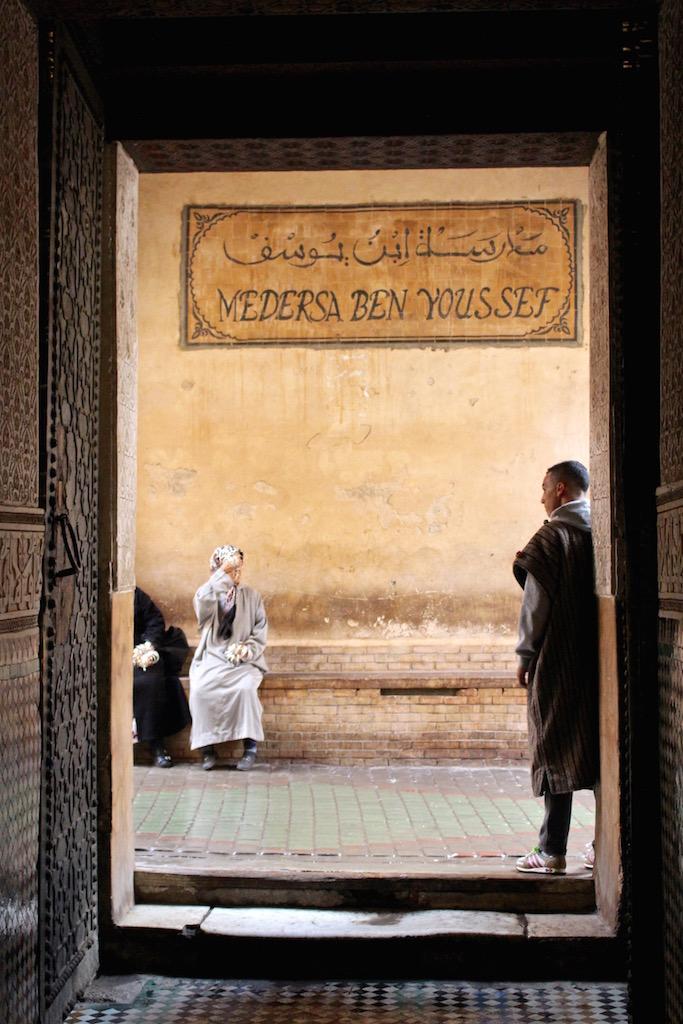 Die Medersa Ben Youssef in Marrakesch.