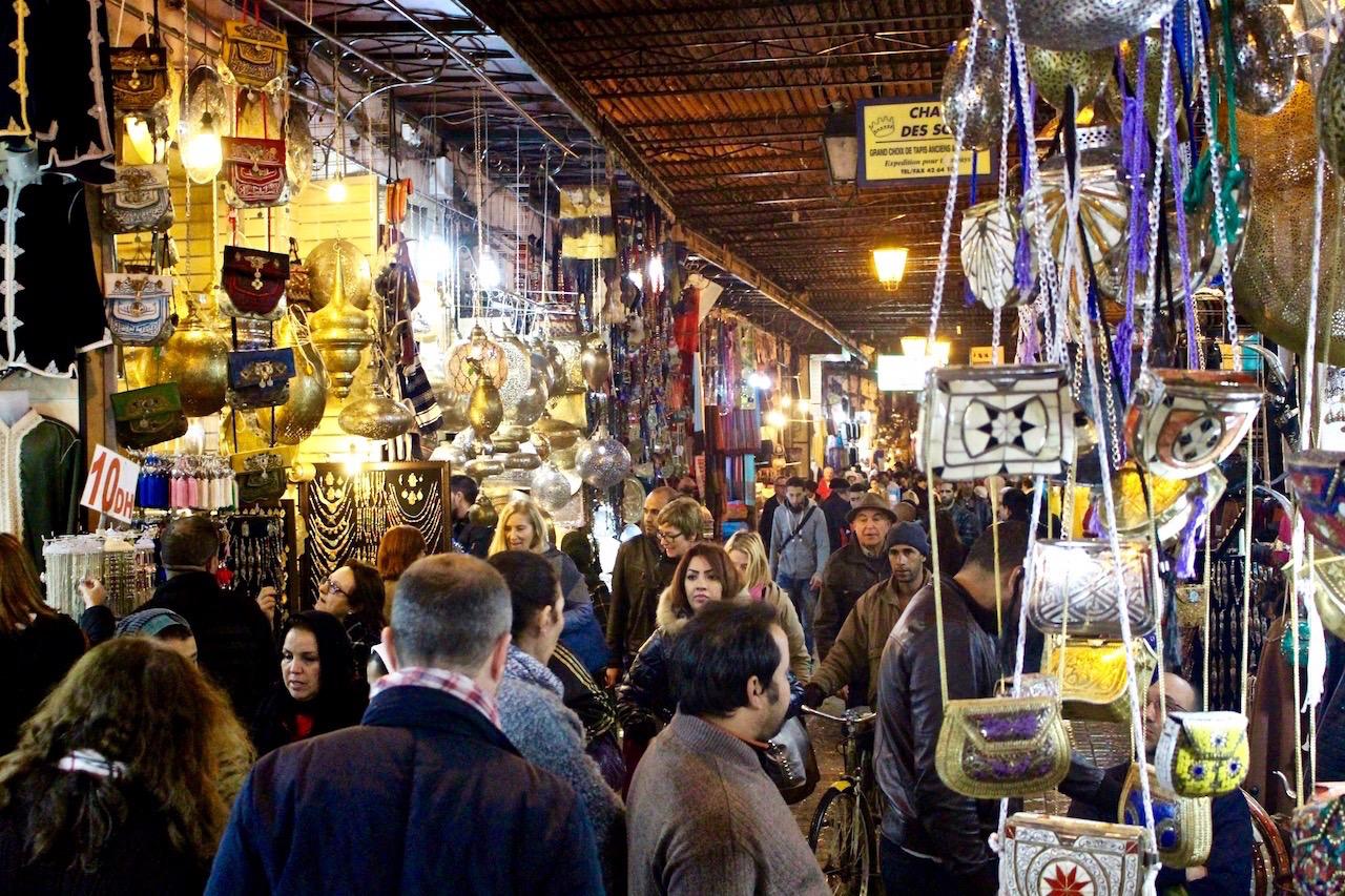 Impressionen aus dem Souk in Marakesch, Marokko.