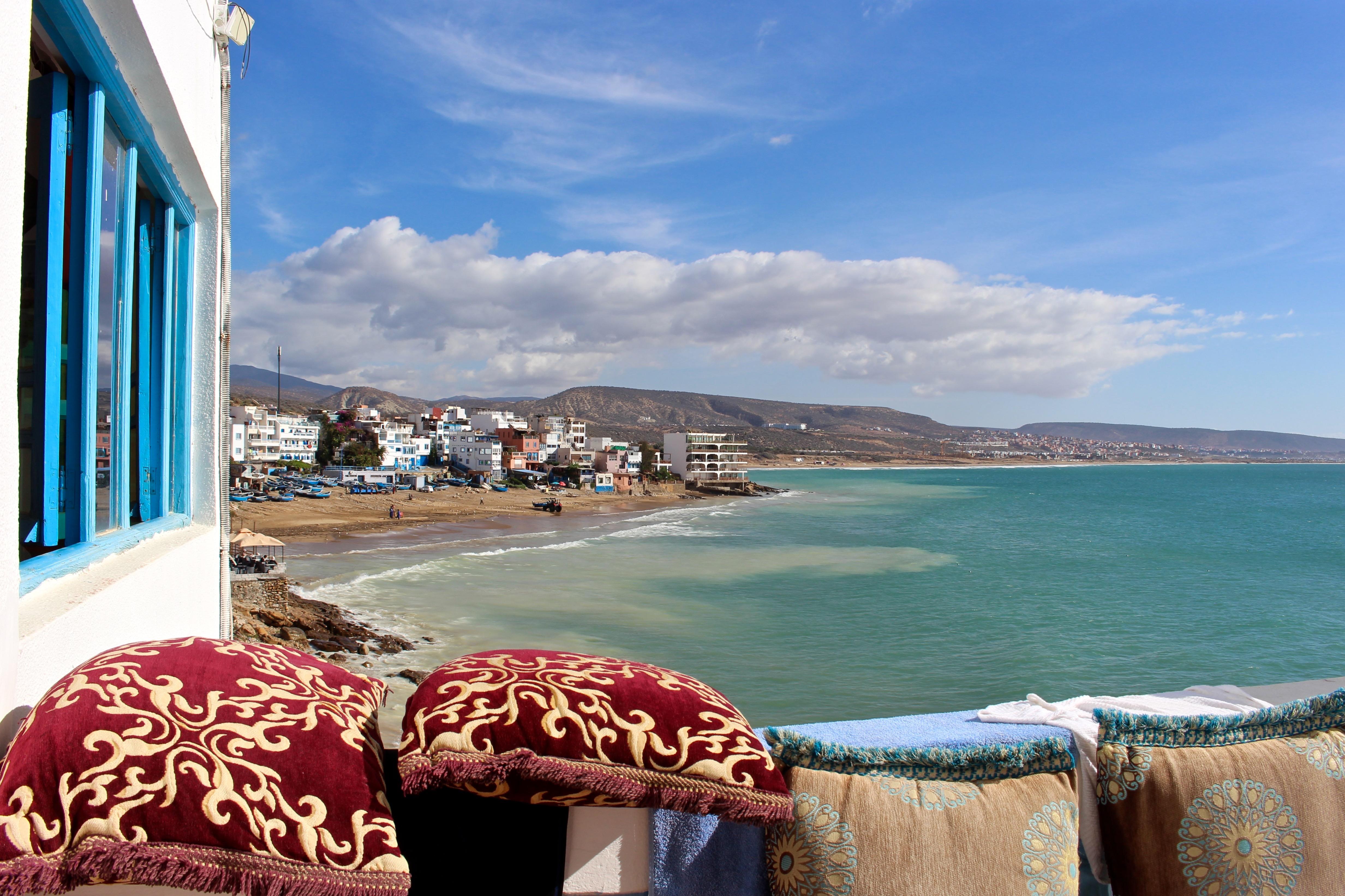 Der Ausblick von meinem Zimmer im Surf Berbere Surfcamp....