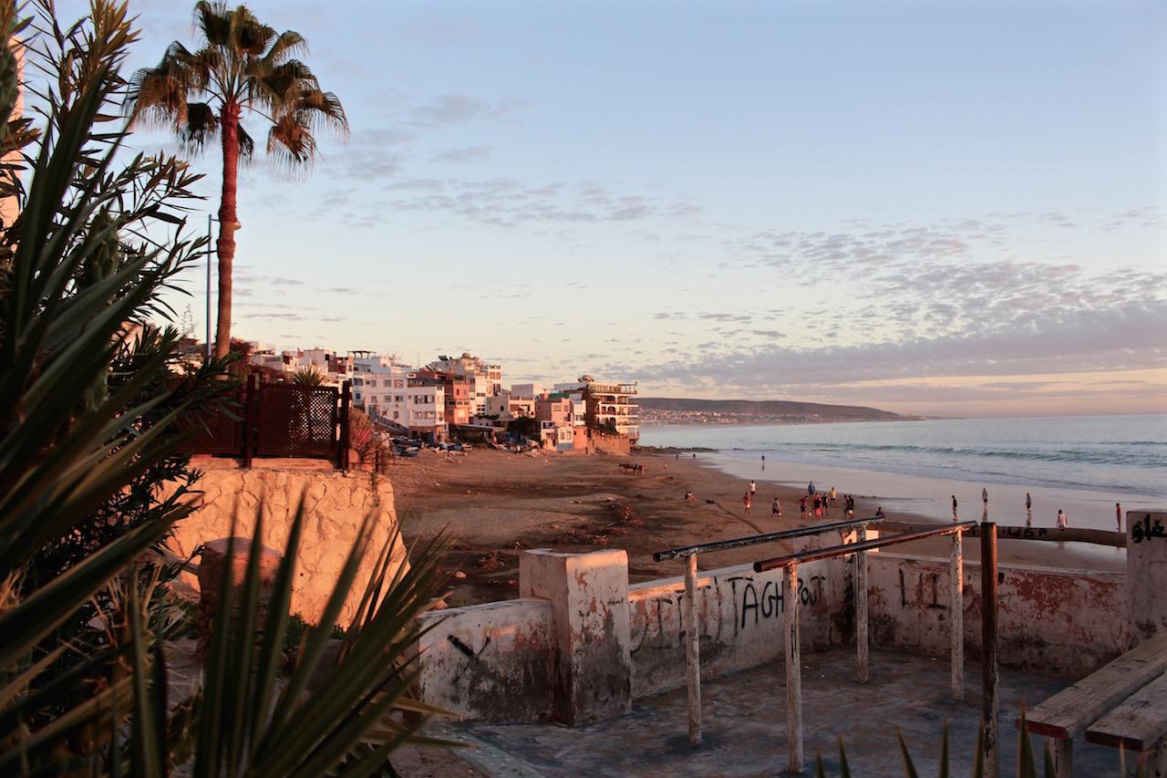 Taghazout, Marokko.