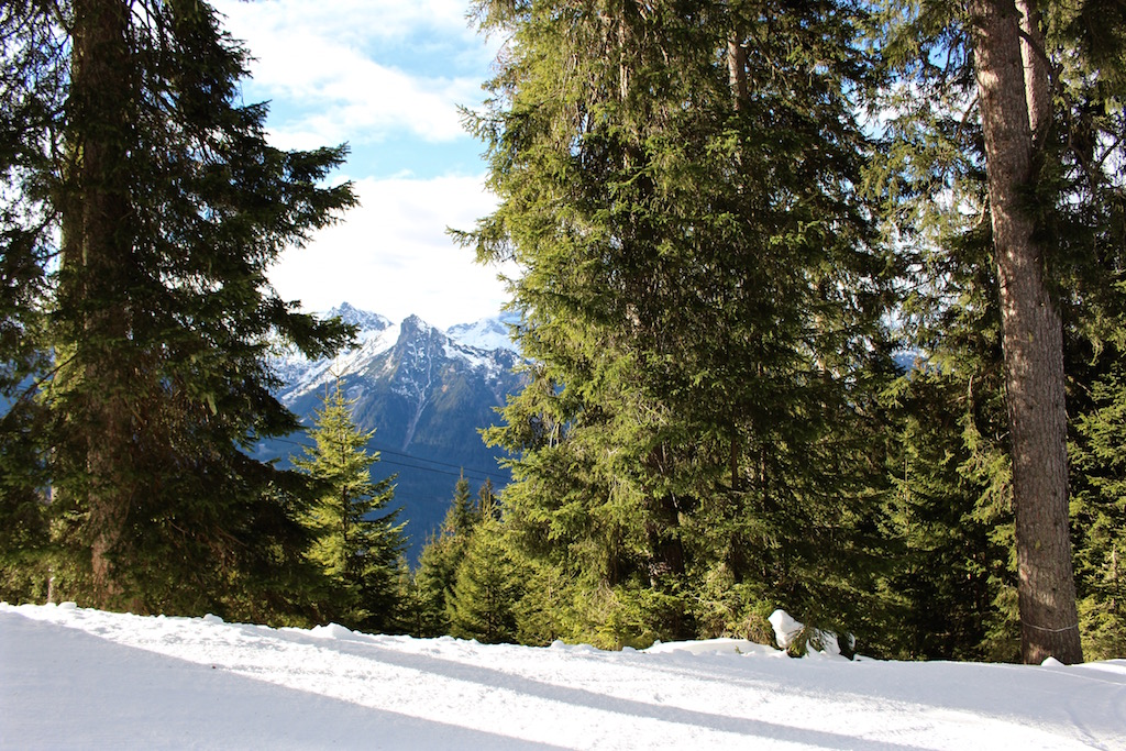 Snowboarden im Montafon.
