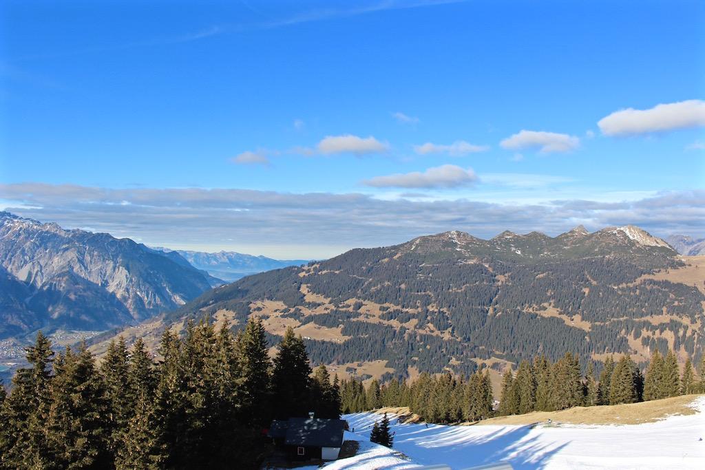Das Skigebiet Silvretta-Montafon bietet herrliche Aussichten.