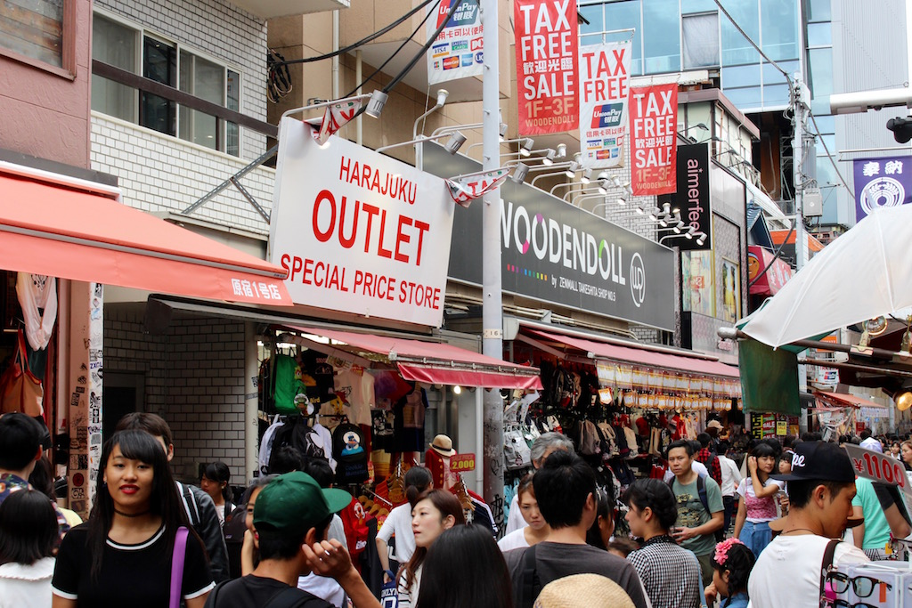 Verrückte Menschenmassen in Tokyo.