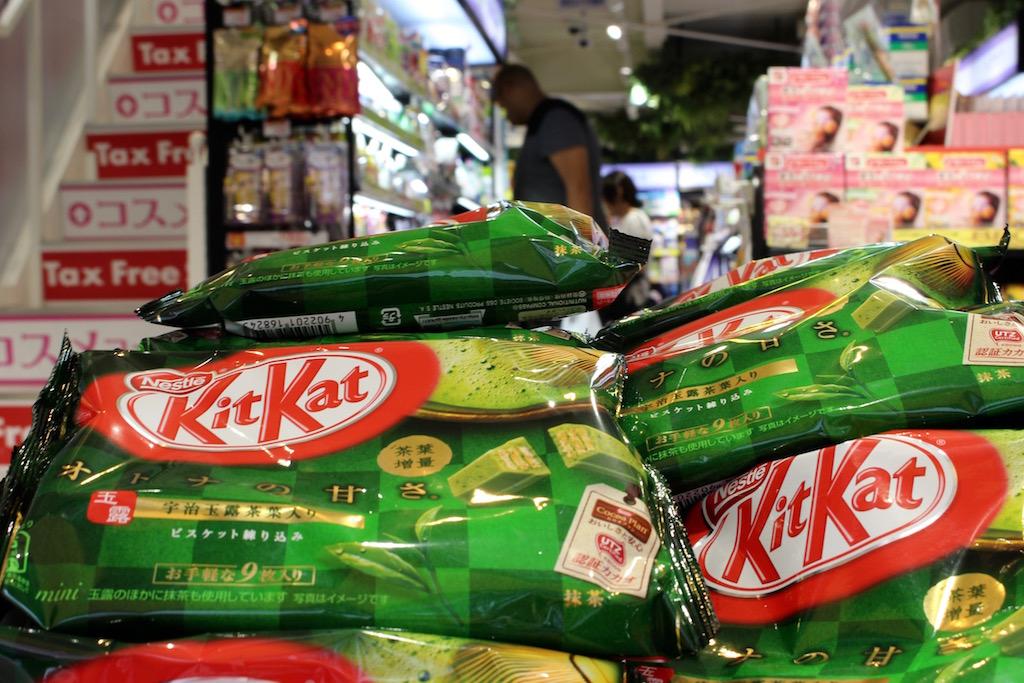In Japan gibt es Kit Kat in allen möglichen Geschmacksrichtungen. Auch mit Grüntee.
