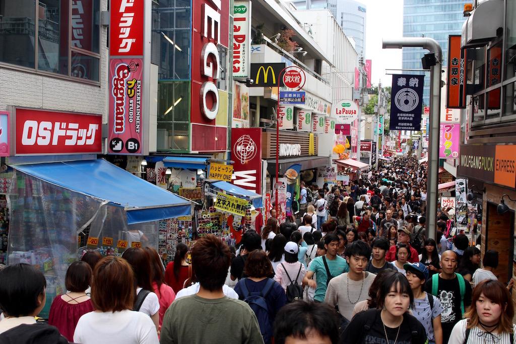 Ganz im Gegenteil zur Takeshita-Dori...