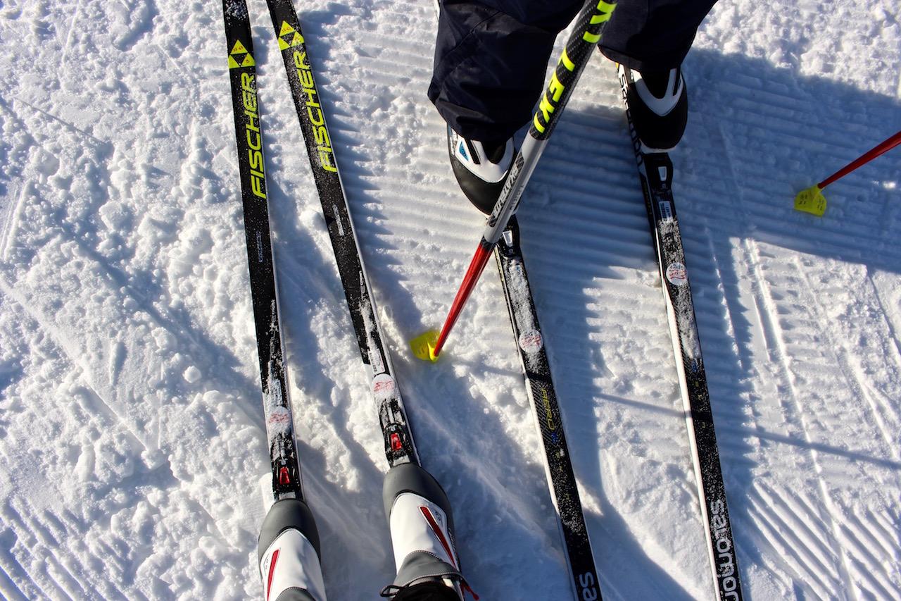 Das erste Mal auf Langlaufskier...