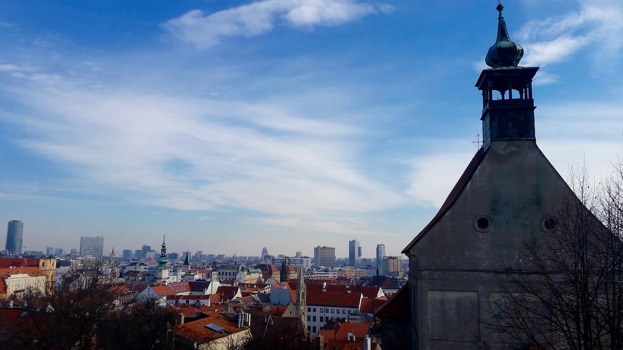 Sicht von der Burg über die Stadt.