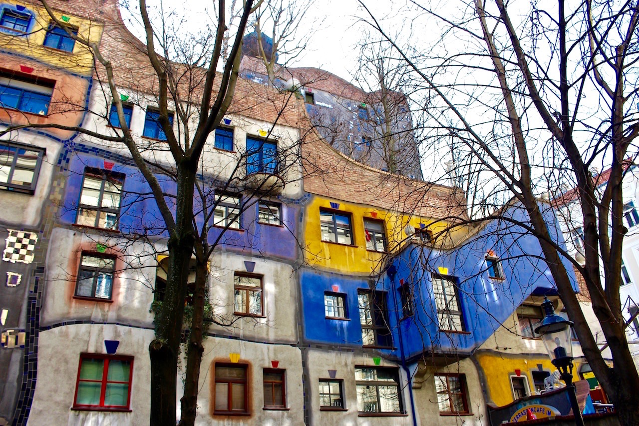 Das Hundertwasserhaus in Wien.