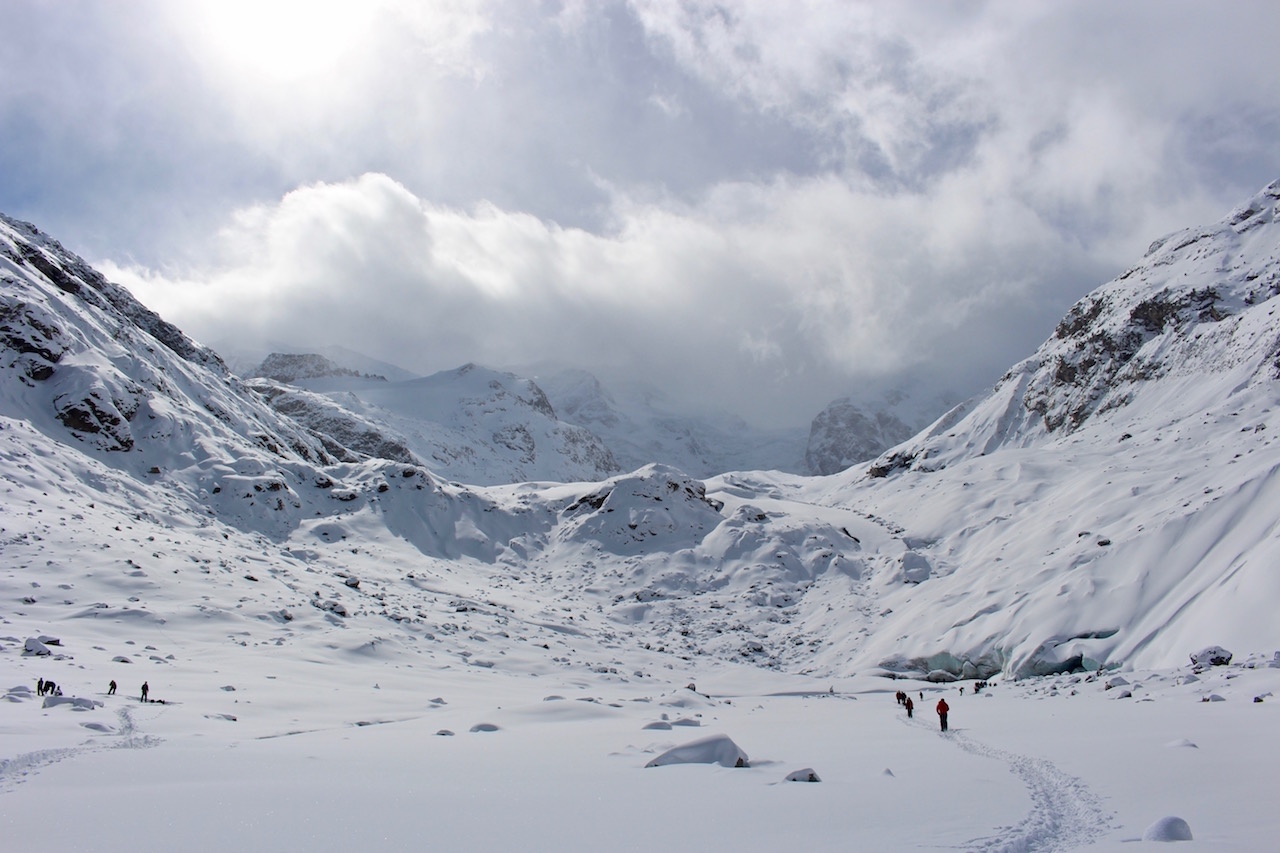 Die Bergwelt des Engadins.