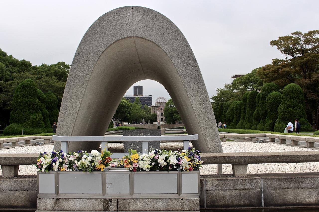 Das Friedensdenkmal in Hiroshima.