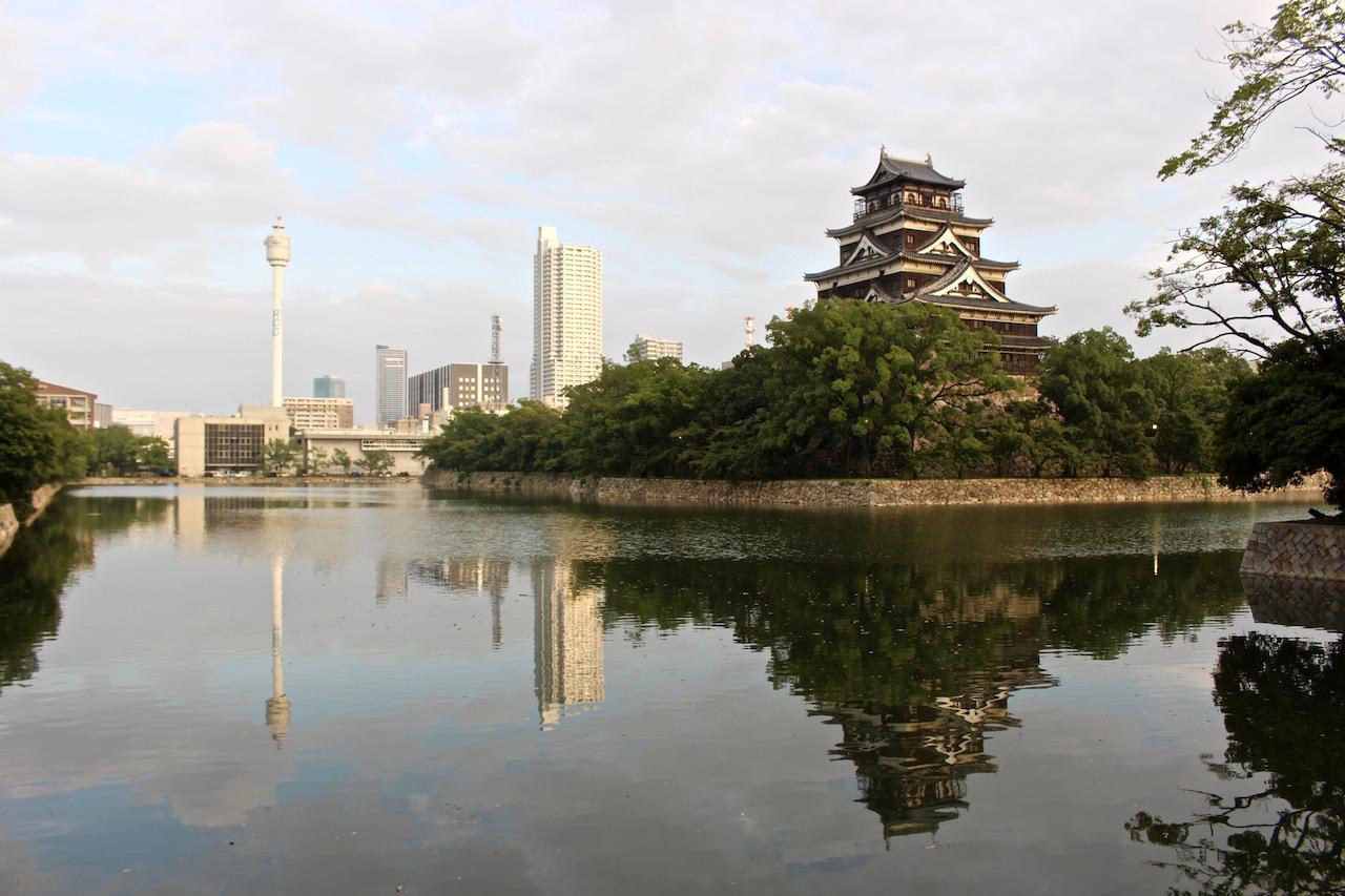 Perfekte Symbiose von Früher und Heute in Hiroshima.