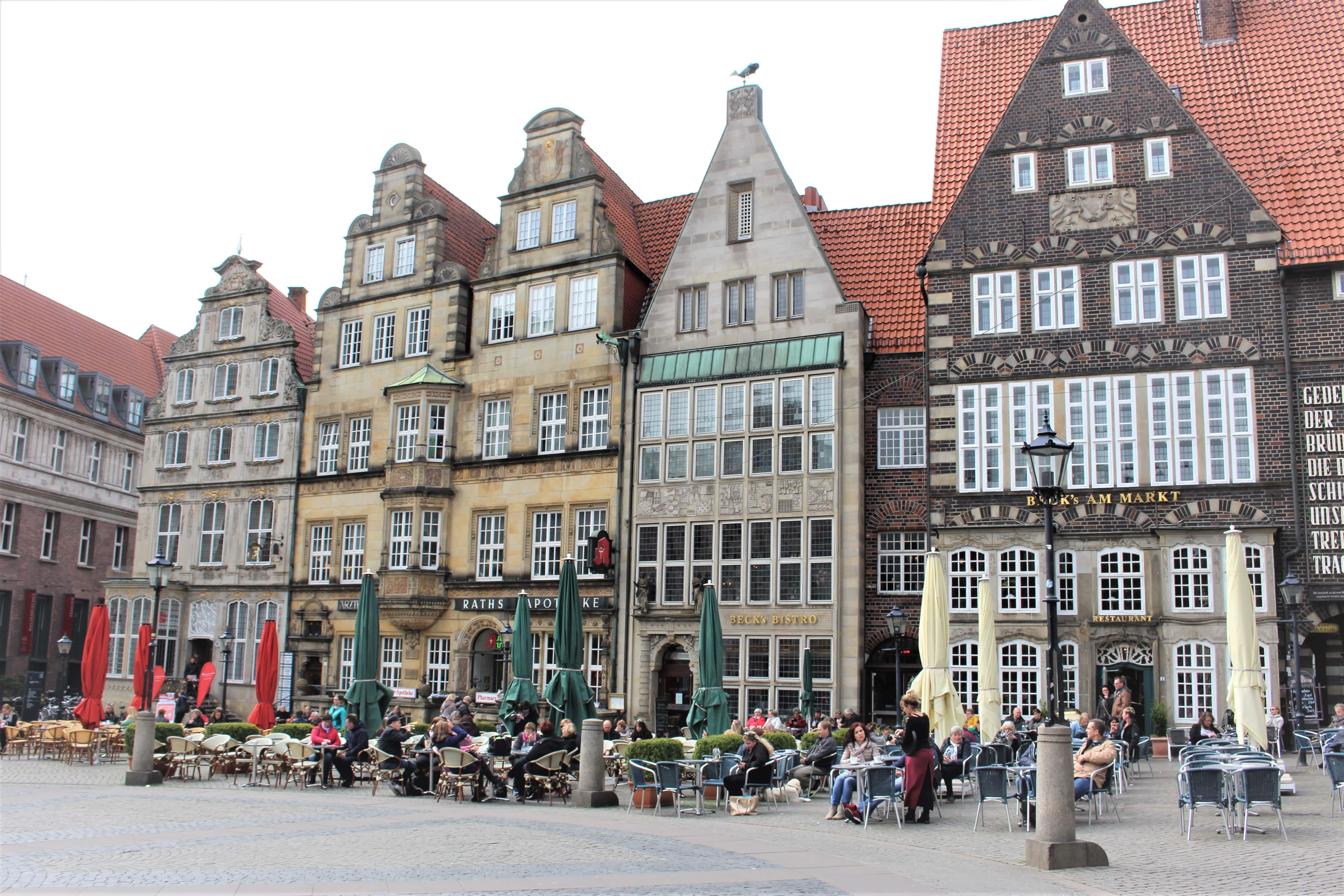 Der Marktplatz in Bremen.