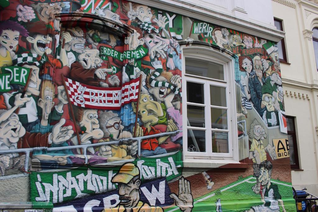 Auch Werder Bremen ist im Ostertor vertreten.