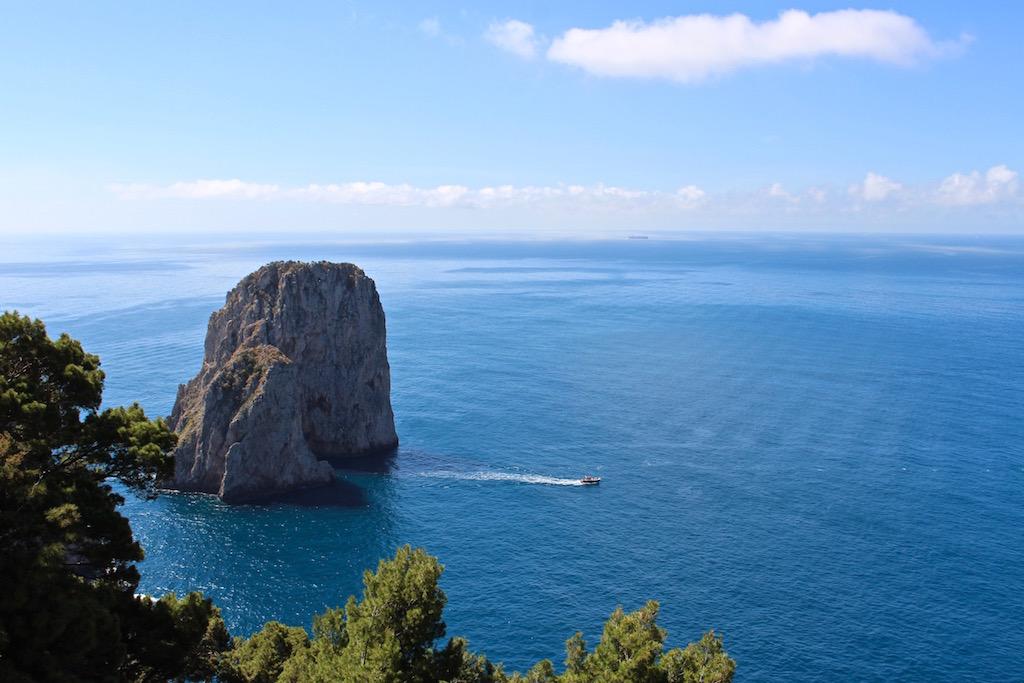 Wunderschöner Ausblick vom Tragara Aussichtspunkt.