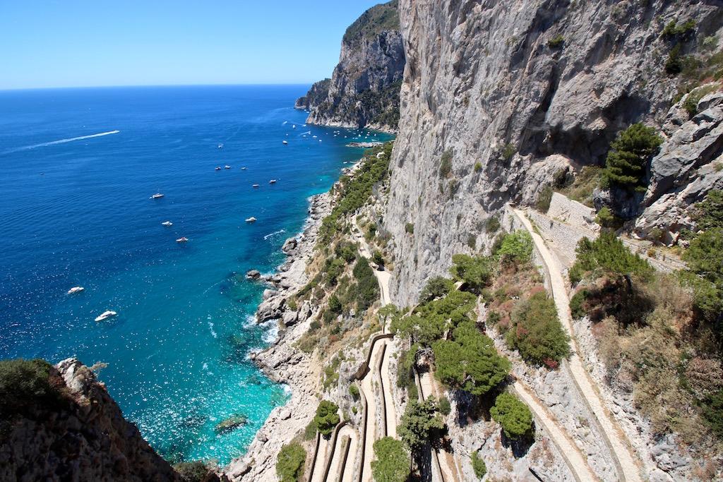 Die Via Krupp auf Capri.